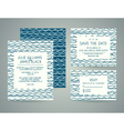 set of wedding invitation cards with abstract vector image vector image