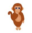 shaggy little monkey vector image vector image