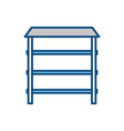 shelves icon image vector image