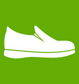 shoes icon green vector image vector image