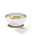 Shrimp porridge vector image vector image