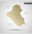 stylized iraq map vector image vector image