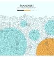 transport Doodle Website Template Design vector image
