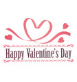 valentines day symbol or icon on white background vector image vector image