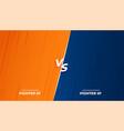 versus vs fight battle background screen design vector image