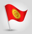 waving simple triangle kyrgyz flag kyrgyzstan vector image vector image