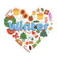 winter and christmas time on vector image
