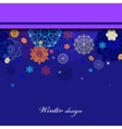 Winter border design with red and blue snowflakes vector image
