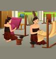 woman making batik