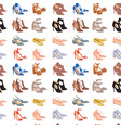 womens shoes flat design footwear shoe vector image