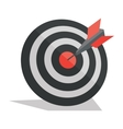 Darts arrows in the target center vector image