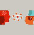 quantum learning head and atom molecular neutron vector image