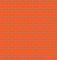 Seamless brick wall orange vector image