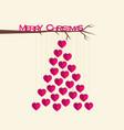 creative merry christmas tree design vector image