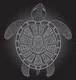 Decorative graphic turtle tribal totem animal vector image