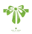 abstract green and white circles gift bow vector image vector image