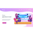 agriculture drone use concept landing page