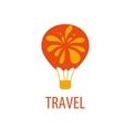 air travel logo vector image vector image
