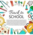 Back School Background vector image vector image