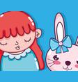 beautiful girl cartoons vector image