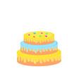 birthday cake sweet food dessert isolated on vector image vector image