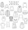 black and white set clothes vector image
