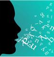 Black female profile speaking vector image