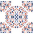 blue and orange ornamental seamless pattern vector image vector image