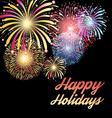 bright colorful festive background with different vector image vector image