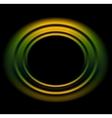 Bright orange green circles logo background vector image vector image