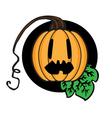 Celebratory pumpkin vector image vector image