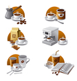 coffee icons vector image