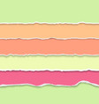 collection of pastel colors torn paper vector image vector image