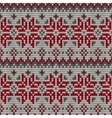 color knitted christmas seamless pattern vector image vector image