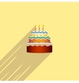colorful birthday cake in the style of a flat vector image