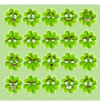 cute cartoon four-leaf clover with many vector image vector image