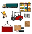 Delivery shipping and freight objects vector image