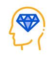 diamond man hat icon outline vector image vector image