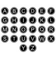 english alphabet symbols icons black and white set vector image