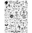 Ethnic musicians - doodles set vector image vector image