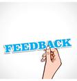 feedback word in hand vector image