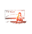 female newscaster journalist profession vector image