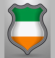 flag of ireland badge and icon vector image