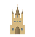 flat icon of the catholic church vector image vector image