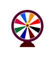 fortune wheel logo online gambling emblem casino vector image vector image
