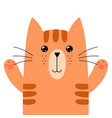 funny ginger cat isolated element cute feline vector image vector image