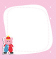 greeting card with cartoon piglet greeting card vector image