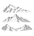 hand drawn mountains vector image