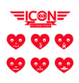 heart face emotion icon vector image