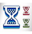 hourglass web icon vector image vector image